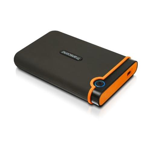 Transcend USB2.0 2.5インチ ポータブルHDD 耐衝撃 M2シリーズ 500GB 3年保証 TS500GSJ25M2
