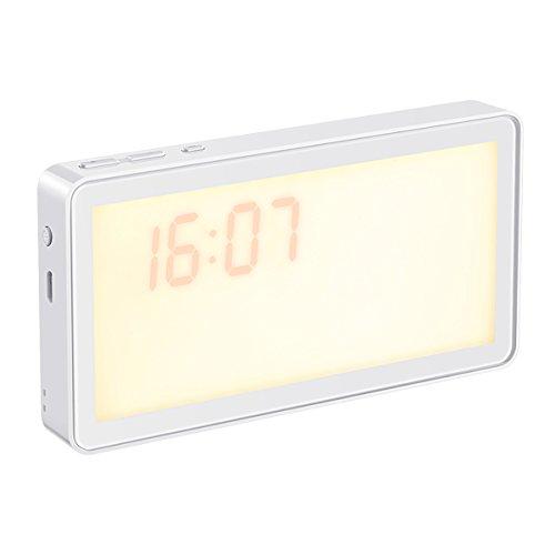 AMIR ベッドサイドランプ デジタル時計 テーブルランプ ...
