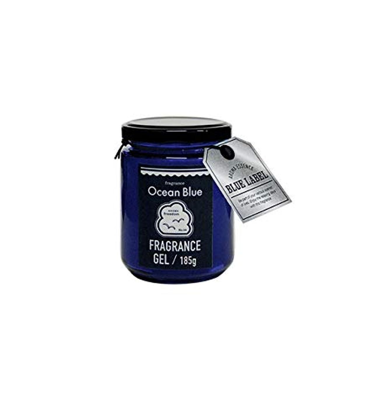 曲がったロデオ全国ブルーラベル ブルー フレグランスジェル185g オーシャンブルー(ルームフレグランス 約1-2ヶ月 海の爽快な香り)