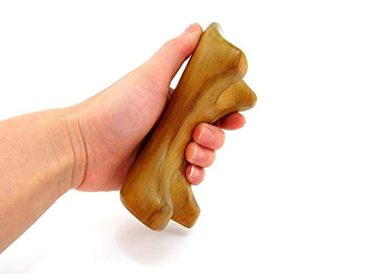 ツボ 刺激 押し 握り かっさ プレート マッサージ棒 マッサージ台 天然木製 イヌ形