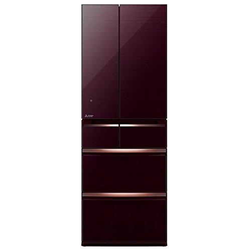 三菱 517L 6ドア冷蔵庫(クリスタルブラウン)MITSUBISHI 置けるスマート大容量 WXシリーズ MR-WX52C-BR
