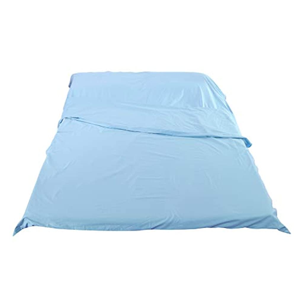 オークションヘビロードされたF Fityle インナーシュラフ トラベルシーツ 封筒型寝袋 ライナー キャップ 登山 旅行 防災避難 全3サイズ