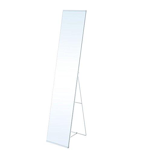 【開梱設置サービス付き】 スタンドミラー 全身鏡 姿見 折りたたみ 飛散防止加工 全身 鏡 かがみ ホワイト
