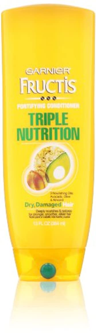 ステレオファブリック利点Garnier Fructis Fortifying Triple Nutrition Cream Conditioner 384 ml (並行輸入品)