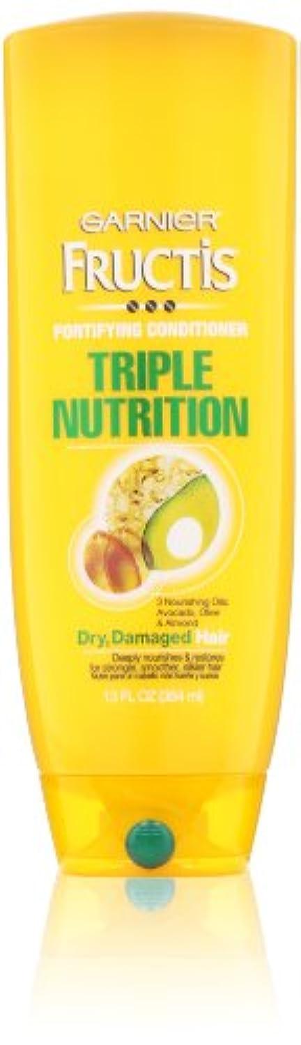 リングバック取得思いやりのあるGarnier Fructis Fortifying Triple Nutrition Cream Conditioner 384 ml (並行輸入品)