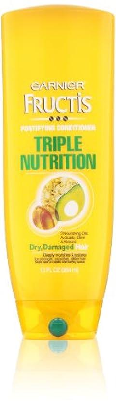 または共和国いじめっ子Garnier Fructis Fortifying Triple Nutrition Cream Conditioner 384 ml (並行輸入品)
