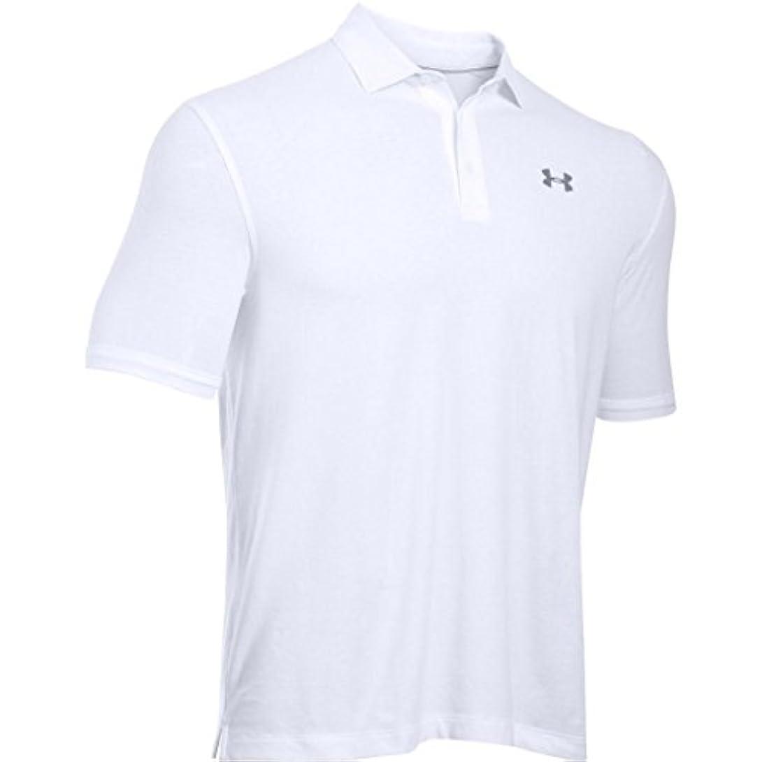 音障害者畝間[アンダーアーマー] ゴルフ/ポロシャツ チャージドコットンスクランブルロゴ 1281003 メンズ