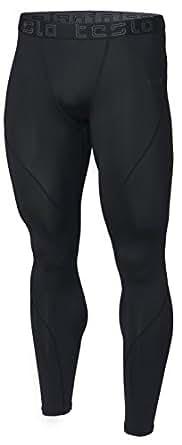 (テスラ)TESLA オールシーズン ロング スポーツタイツ [UVカット・吸汗速乾] コンプレッションウェア パワーストレッチ アンダーウェア MUP19-KLB(ブラック) M