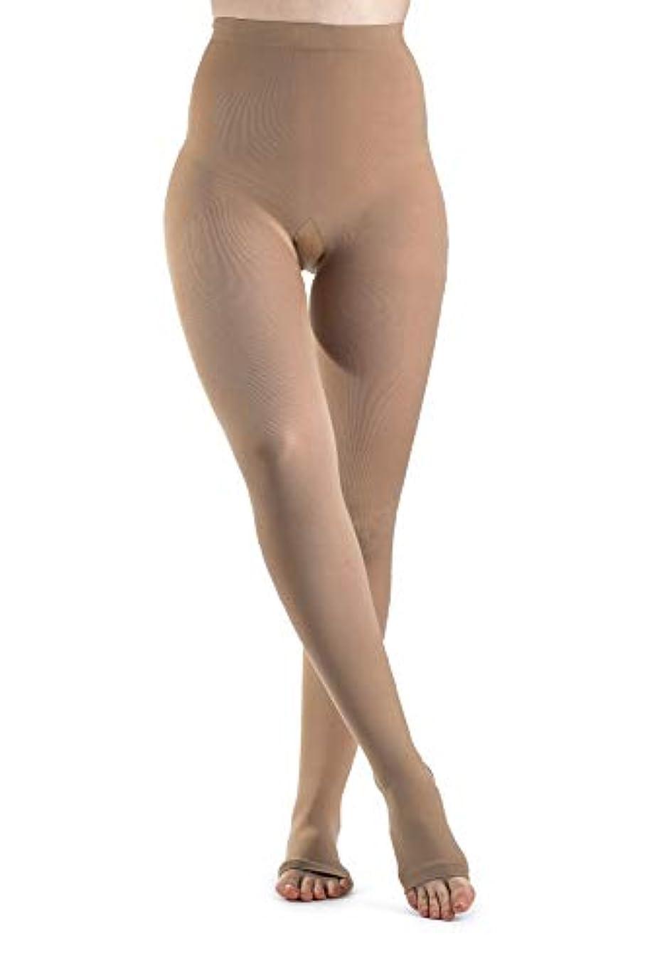 マリナー膨らみ定規Sigvaris Soft Opaque 841PLLO35 15-20mmHg Open Toe, Pantyhose Large Long Women, Nude by Sigvaris