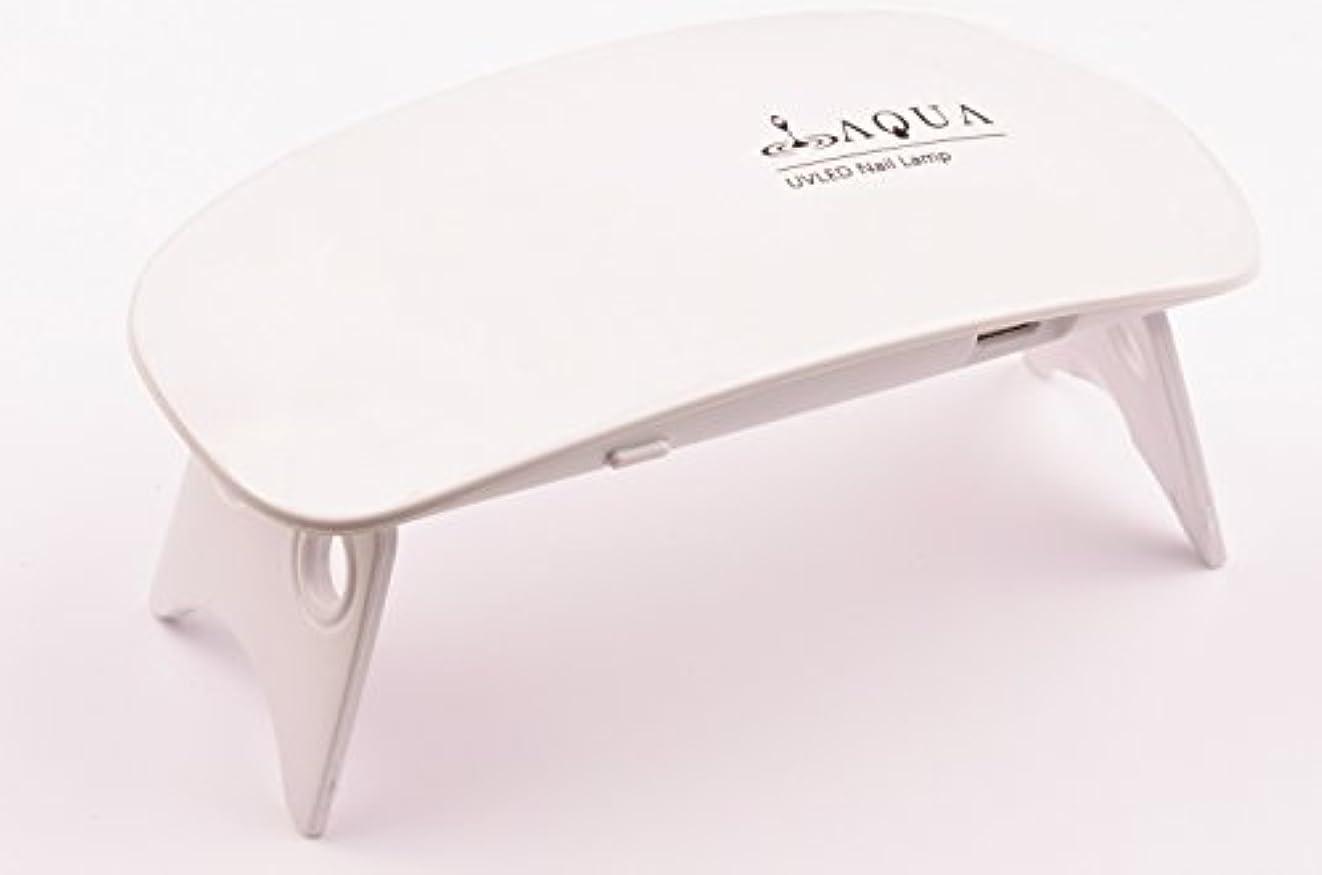 LEDライト UVライト 6W 持ち運びに便利な軽量コンパクトサイズ (04.ホワイト)