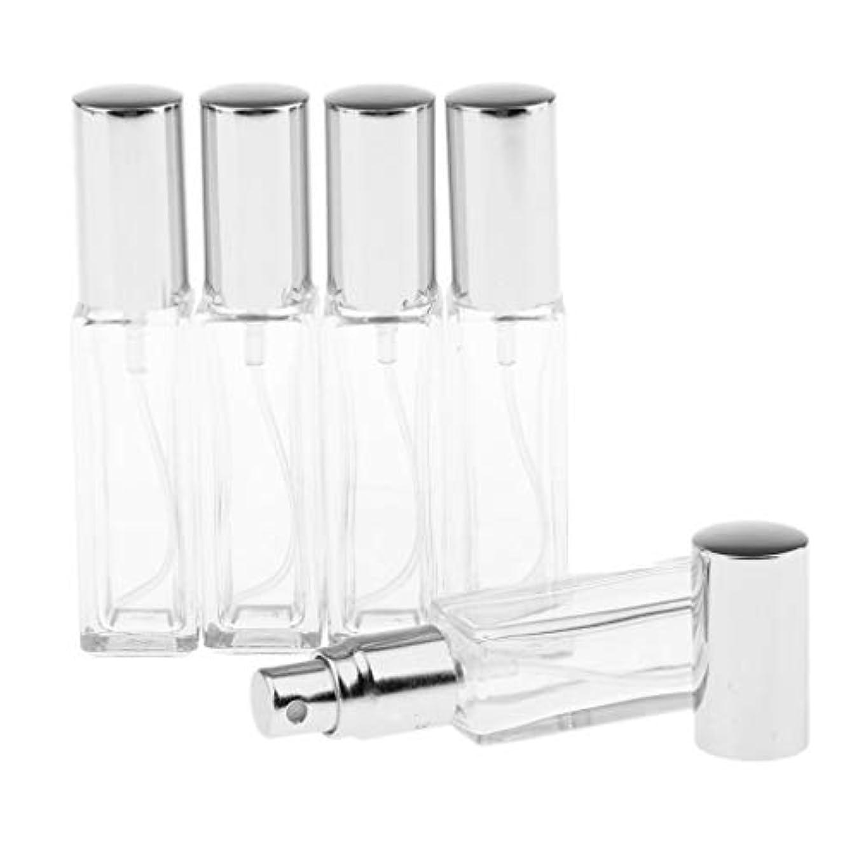 ダッシュ見つけるカブSM SunniMix 8ミリリットル 空のスプレーボトル ガラスボトル ポンプスプレーボトル 6色選ぶ 全5点 - 銀色キャップ