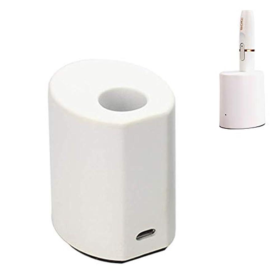ポジション半円このiQOS充電器 アイコス 専用ダイレクト充電クレードル 加熱棒充電器 USB接続充電は iQOS&iQOS 2.4 Plus対応  (ホワイト)