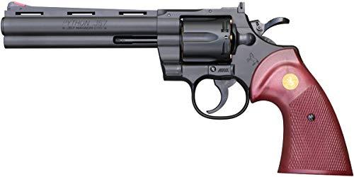クラウンモデル スパークリング エアガン No.1 コルトパイソン .357 マグナム 6インチ BK 火薬なし 10歳以上 エアーHOPハンドガン
