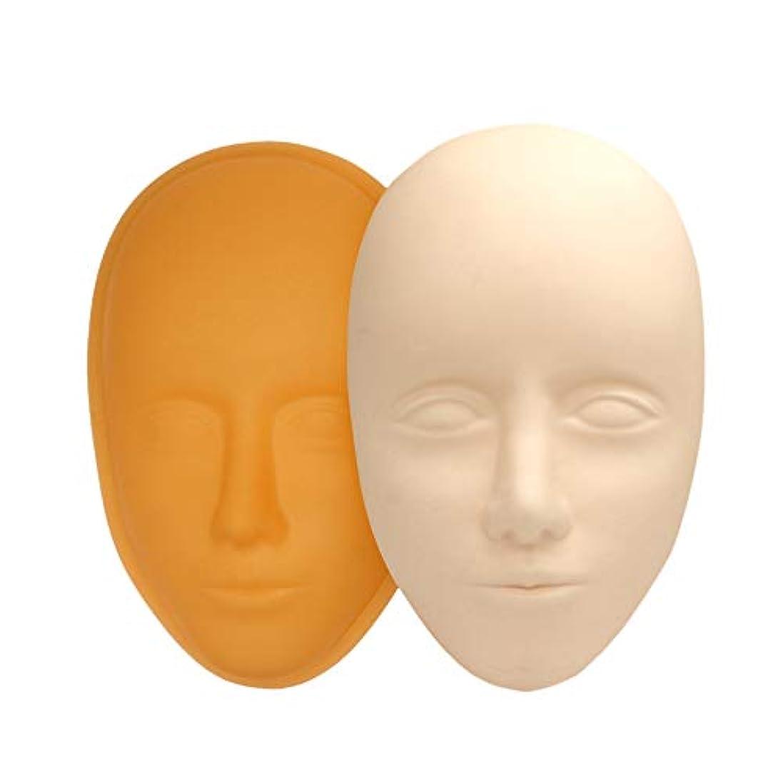 ロータリーシプリー基準SODIAL 5D フェイシャル トレーニングのヘッド シリコン 練習用パーマネント化粧リップとアイブローのスキン マネキン人形 フェイス ヘッド