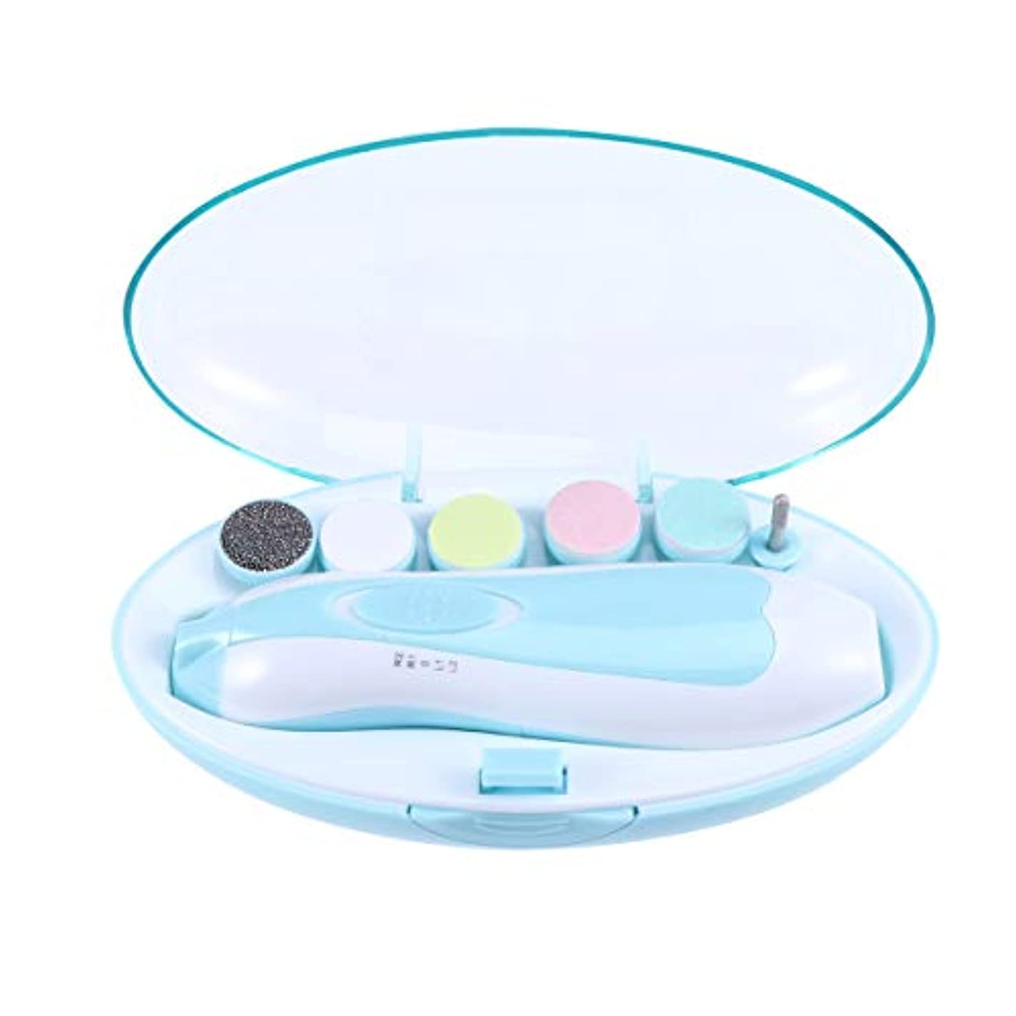 リファイン脳信頼SUPVOX 赤ん坊の釘ファイル電気赤ん坊の釘のトリマーの幼児/幼児/子供のための多機能のネイルポリッシャー
