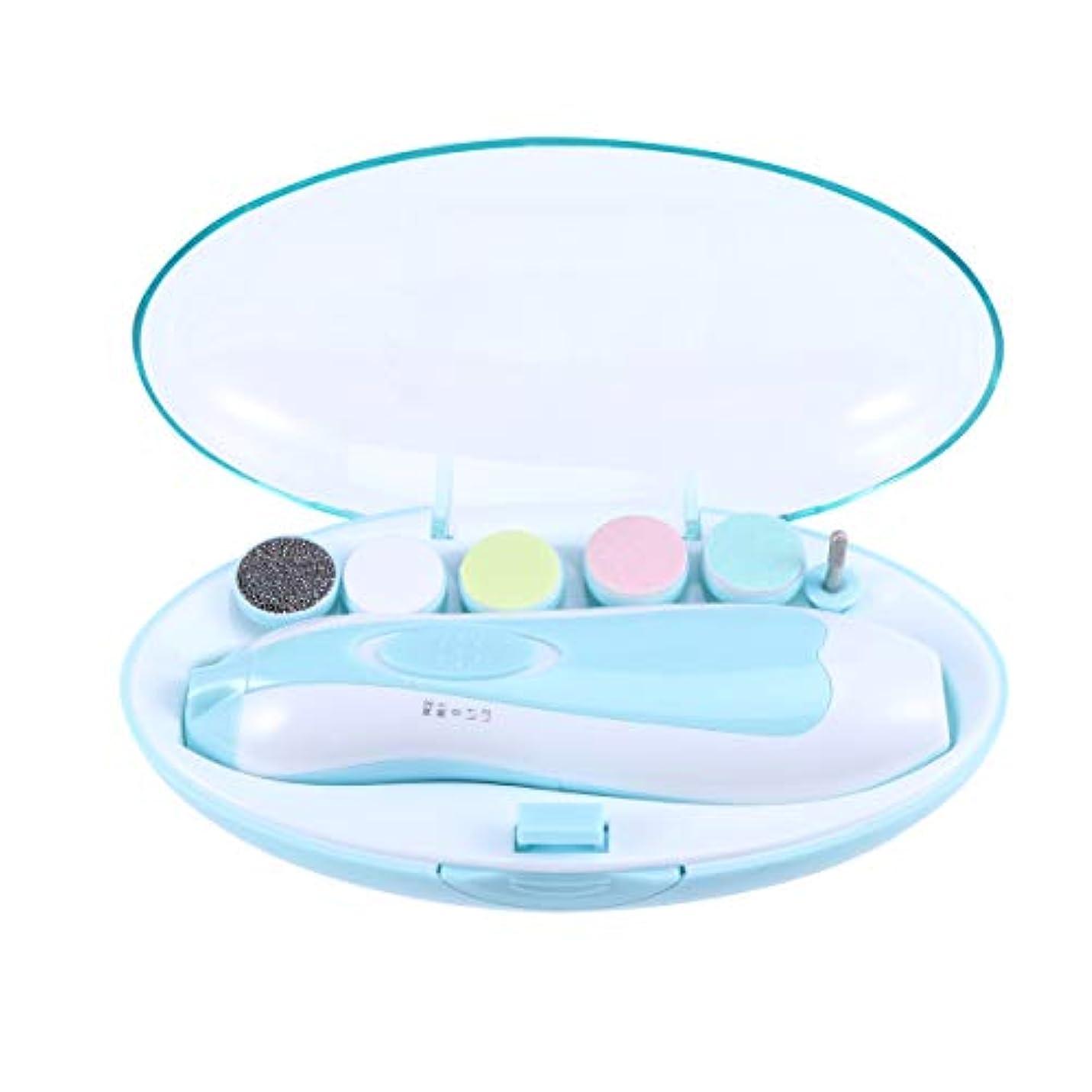 付与また明日ねパンダSUPVOX 赤ん坊の釘ファイル電気赤ん坊の釘のトリマーの幼児/幼児/子供のための多機能のネイルポリッシャー