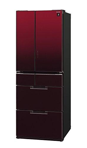 シャープ 冷蔵庫 フレンチドア 耐震ロック機能付 プラズマクラスター搭載 485L グラデーションレッド SJ-GF50B-R