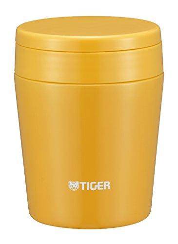 タイガー 魔法瓶 真空 断熱 スープ ジャー 300ml 保温 弁当箱 広口 まる底 サフランイエロー MCL-B030-YS Tiger