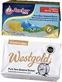NZ産 グラスフェッドバター 味比べセット(ウエストランド454g vs フォンテラ454g)【無塩・冷凍】