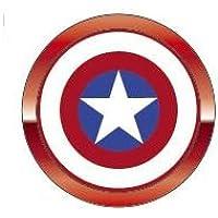 ハセプロ MARVEL アルミボタンシール指紋認証対応 マーベル02 キャプテン・アメリカASS
