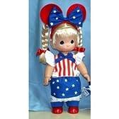 "Precious Moments Disney Born in the USA Blonde 12"" Doll"