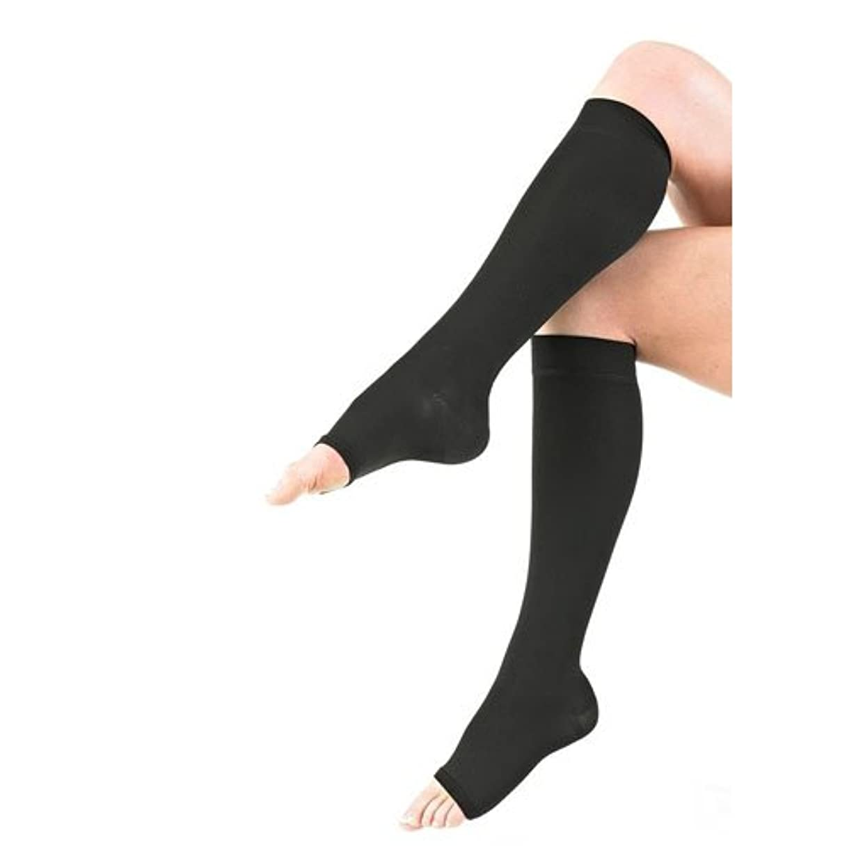 話すメッセンジャー五月Neo G Medical Grade Compression Hosiery Open Toe Knee High Stockings class 2, 20-30mmHg - Medium-Black by Neo-G