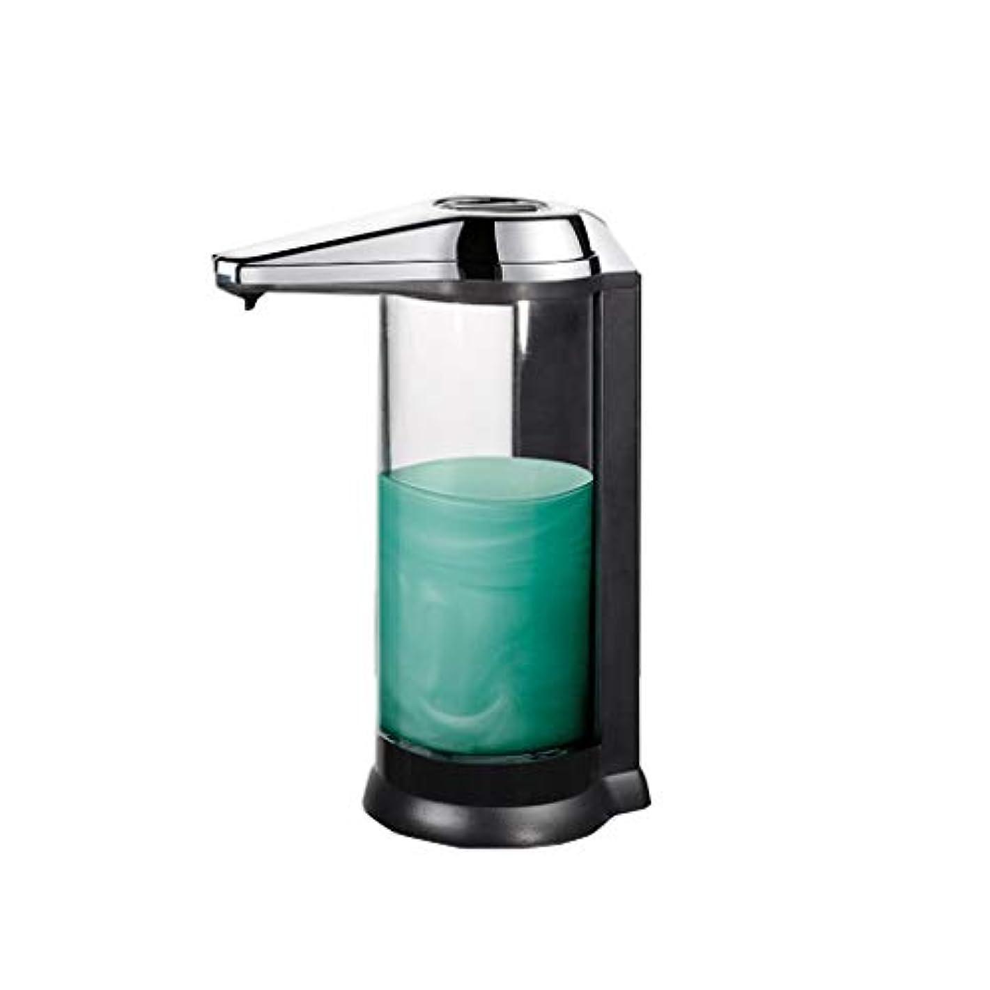 贅沢枠銀せっけん ソープディスペンサー自動ソープディスペンサー赤外線モーションセンサー液体ディスペンサー防水リークプルーフ非接触石鹸子供、キッチン、バスルームに適して 新しい