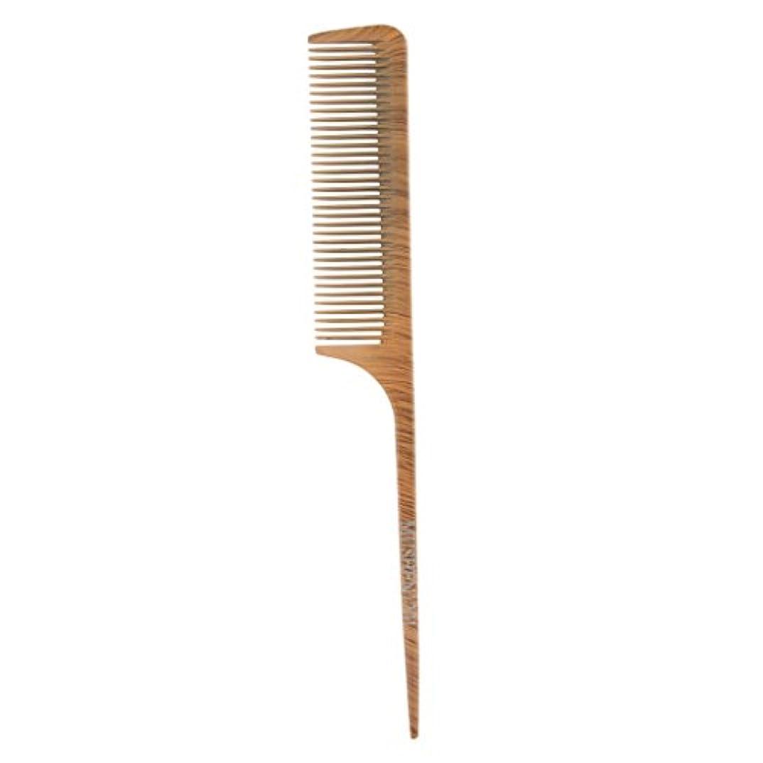 インチ爆発するインタラクションヘアコーム ヘアブラシ ヘアカットコーム ウッド 帯電防止 サロン 理髪師 ヘアケア 4タイプ選べる - 1201
