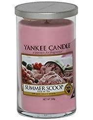 Yankee Candles Medium Pillar Candle - Summer Scoop (Pack of 6) - ヤンキーキャンドルメディアピラーキャンドル - 夏のスクープ (x6) [並行輸入品]