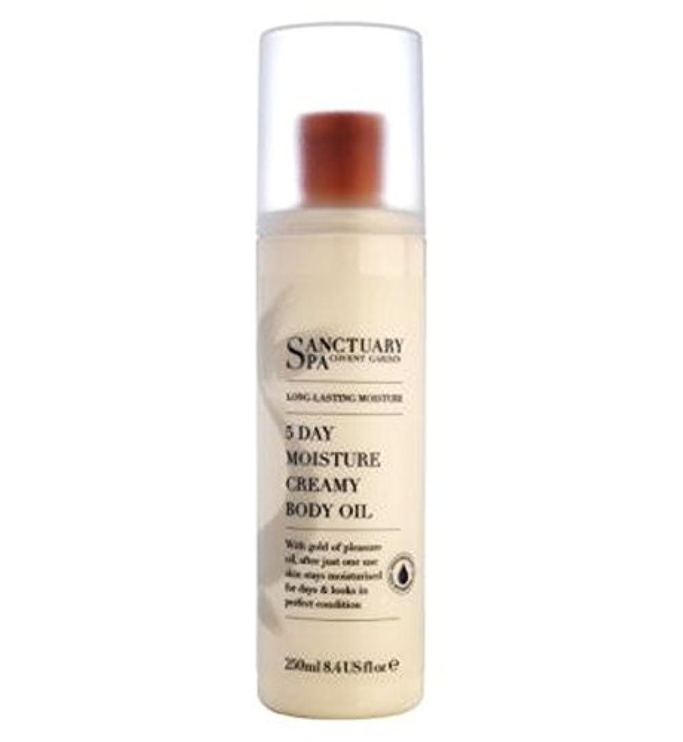 女優暖かく薄いですSanctuary Long Lasting Moisture 5 Day Moisture Creamy Body Oil 250ml - 聖域長期的な水分5日間の水分クリーミーボディオイル250ミリリットル (Sanctuary...