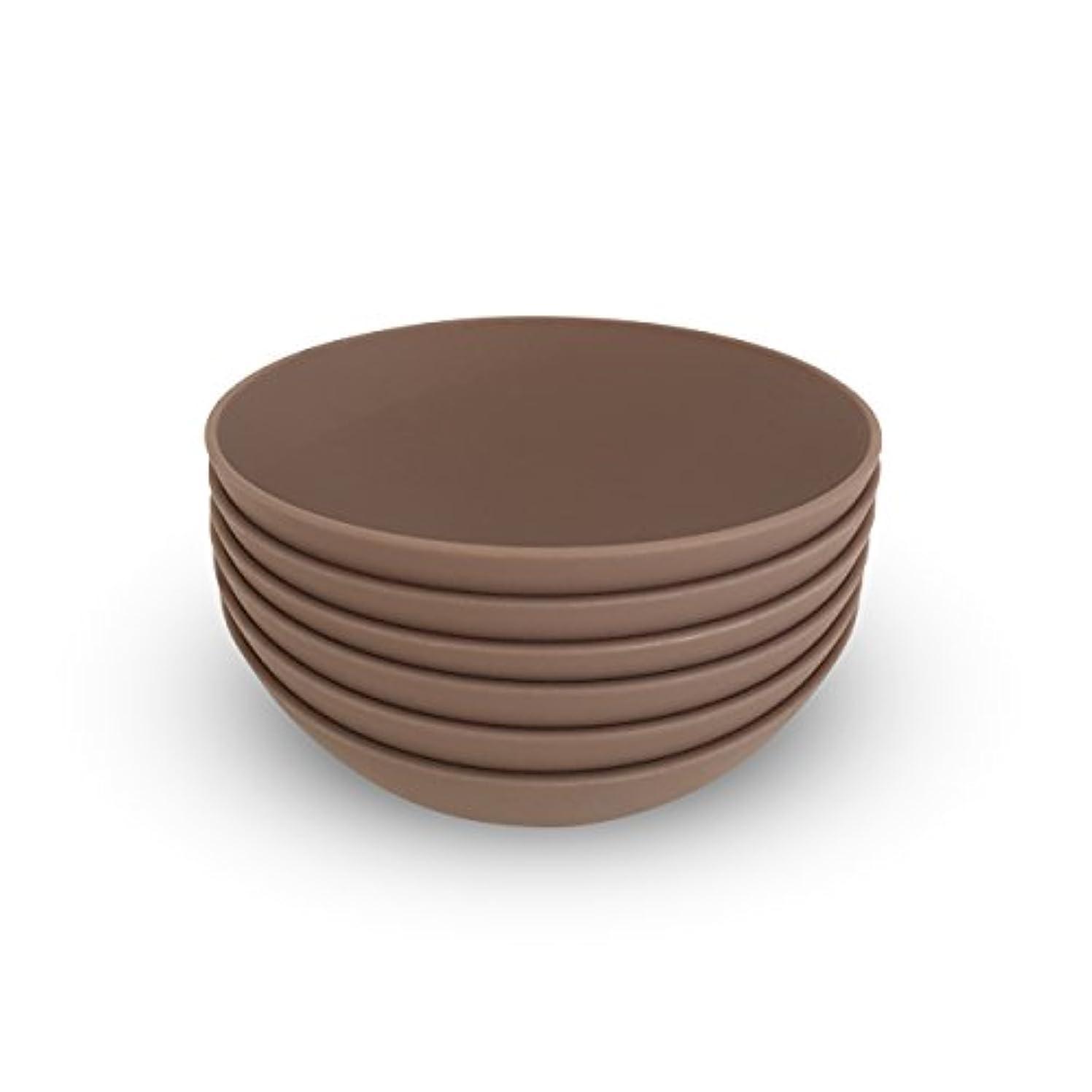静かな目を覚ますコウモリCOZA design- Cozy Large Bowl set- 17 oz Set of 6 グレー