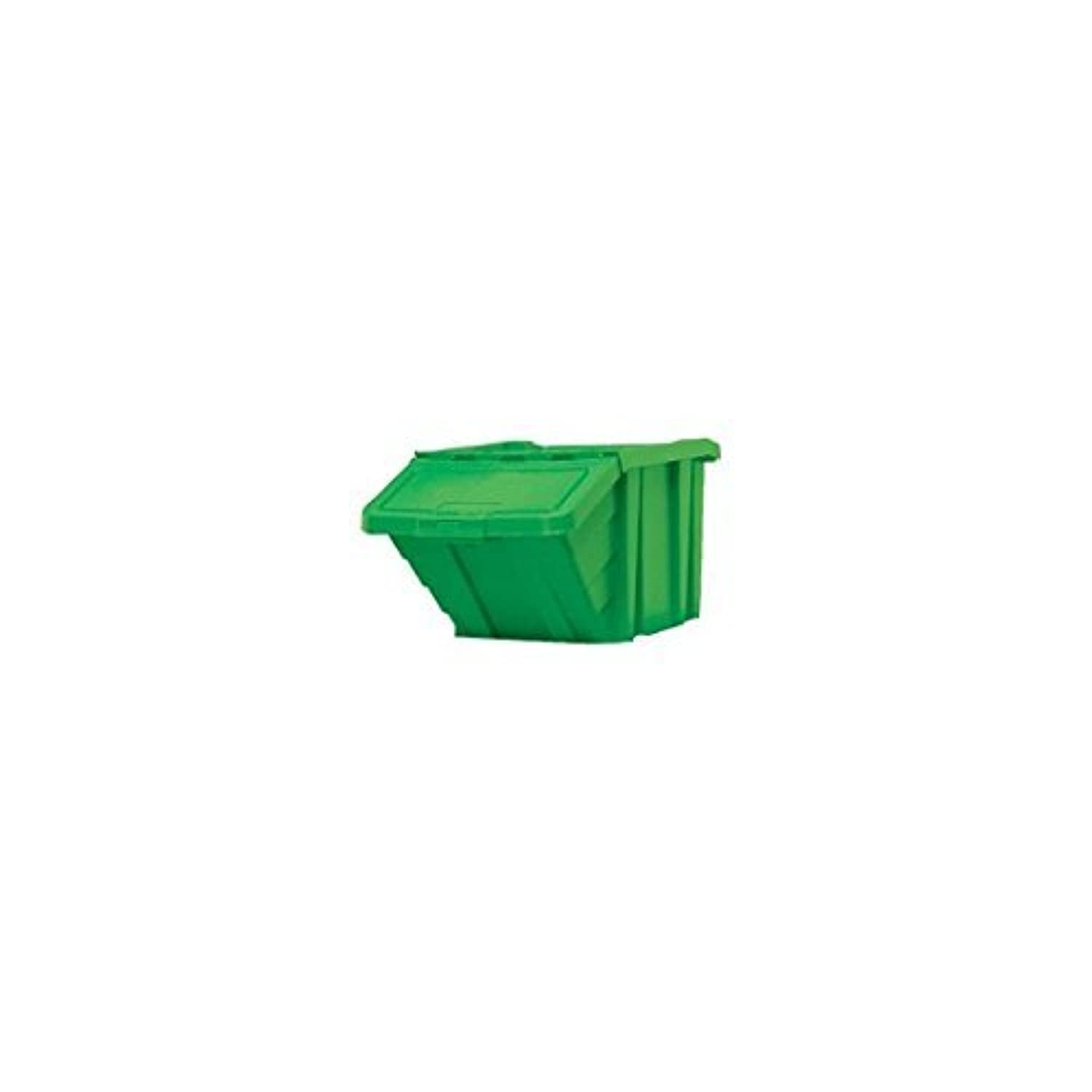 Heavy Duty Storage Bin with Lid Green 369046 by Slingsby Virtual Stock