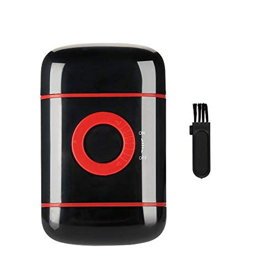 半径オンブラインドシェーバー電気超薄型プロ箔ポップアッププロフェッショナルシェービングフェイスヘアクラシックかみそりひげ仕上げ男性シェイパートリマーツール(赤)