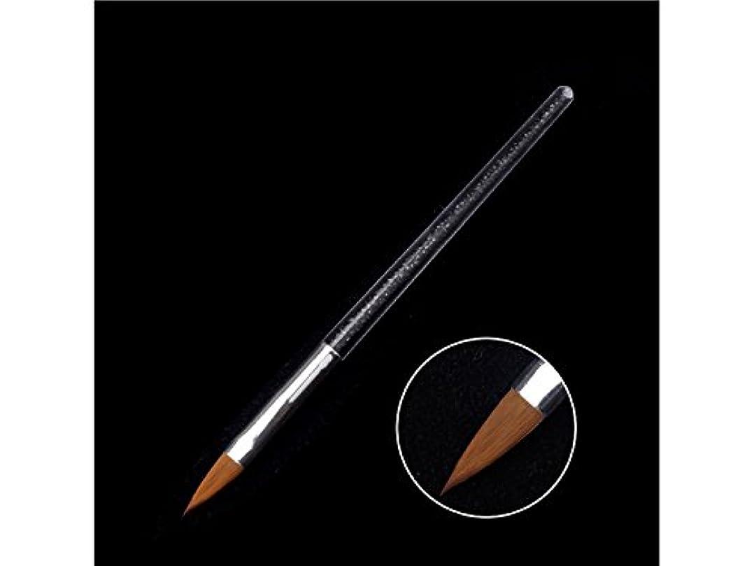 ペースト土コンデンサーOsize ネイルペンツールクリスタルペンダイヤモンドバーペイントペン(ブラック)