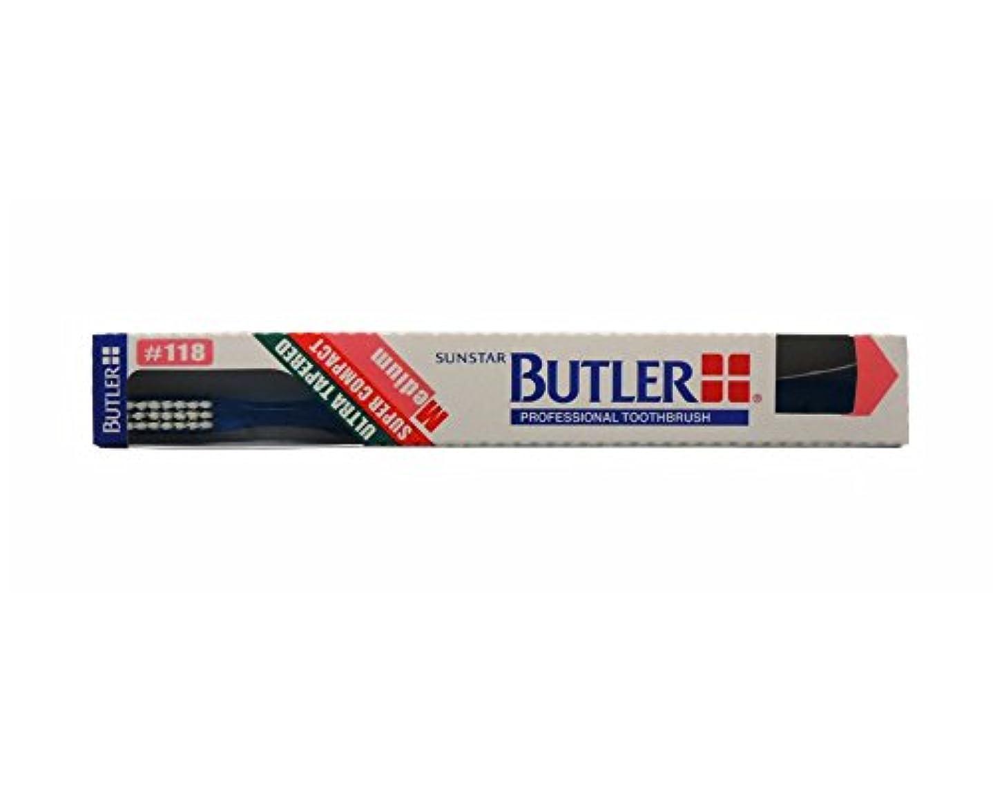 血色の良い革命的ヒョウバトラー 歯ブラシ 1本 #118 ブルー