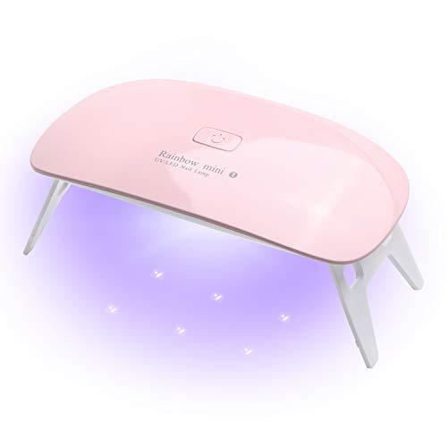 LEDネイルドライヤー AmoVee UVライト タイマー設定可能 折りたたみ式 ジェルネイル用 (pink)...