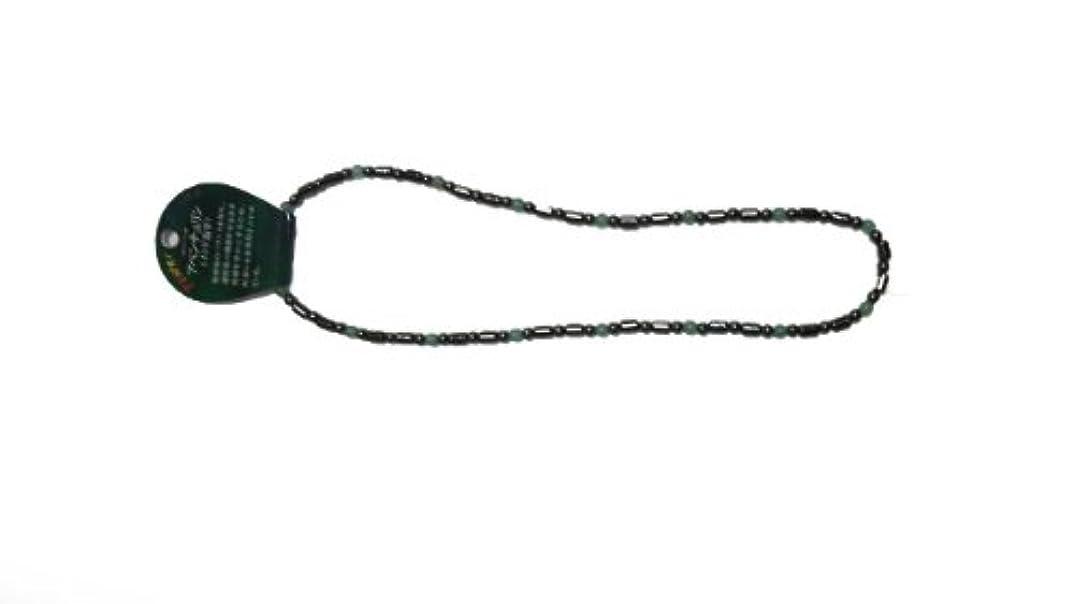 義務付けられたモードリンケージ磁気ヘマタイト円柱型ネックレス アベンチュリン