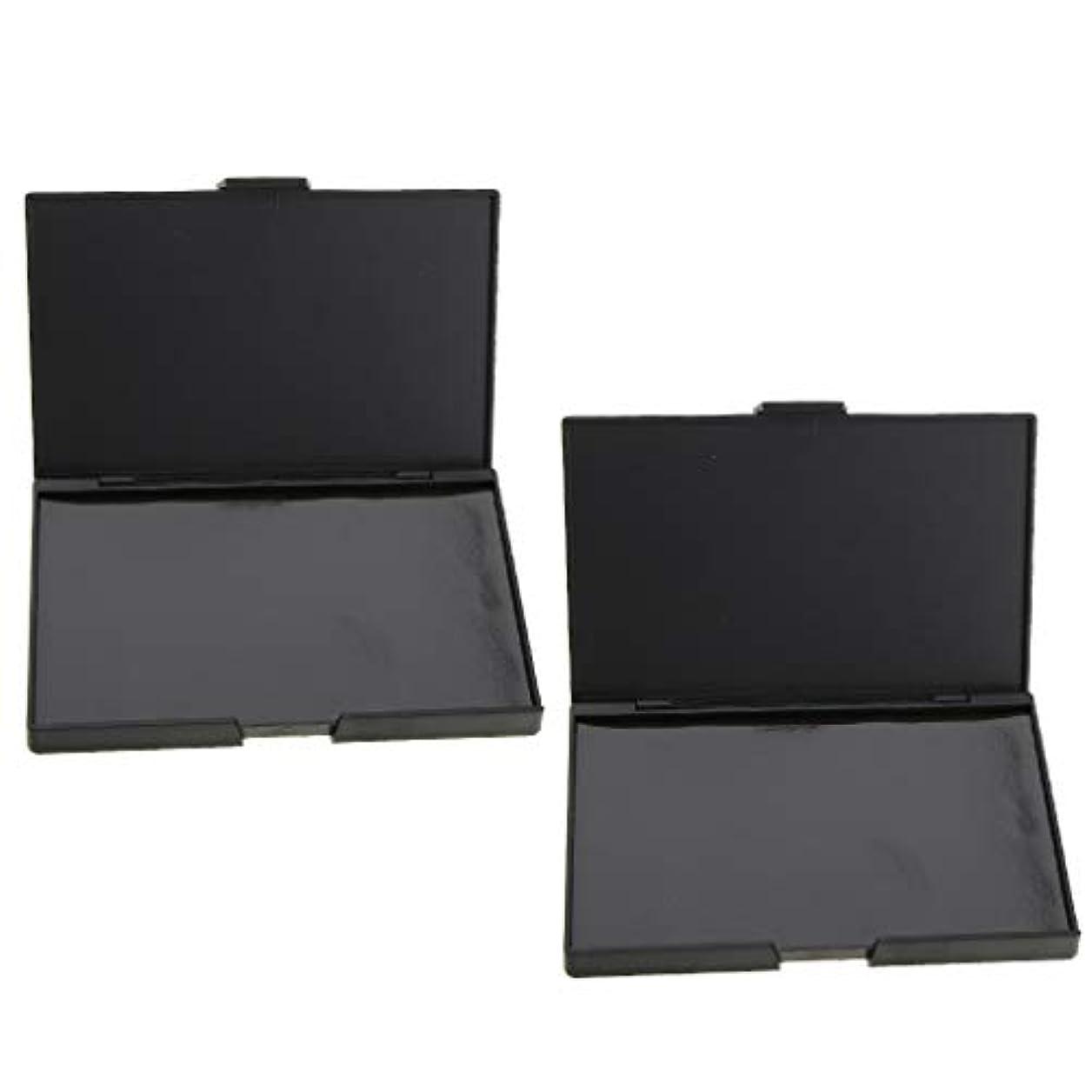 欺くうなり声安定した2個 磁気パレット メイクアップケース コスメ 化粧品 DIY 手作り