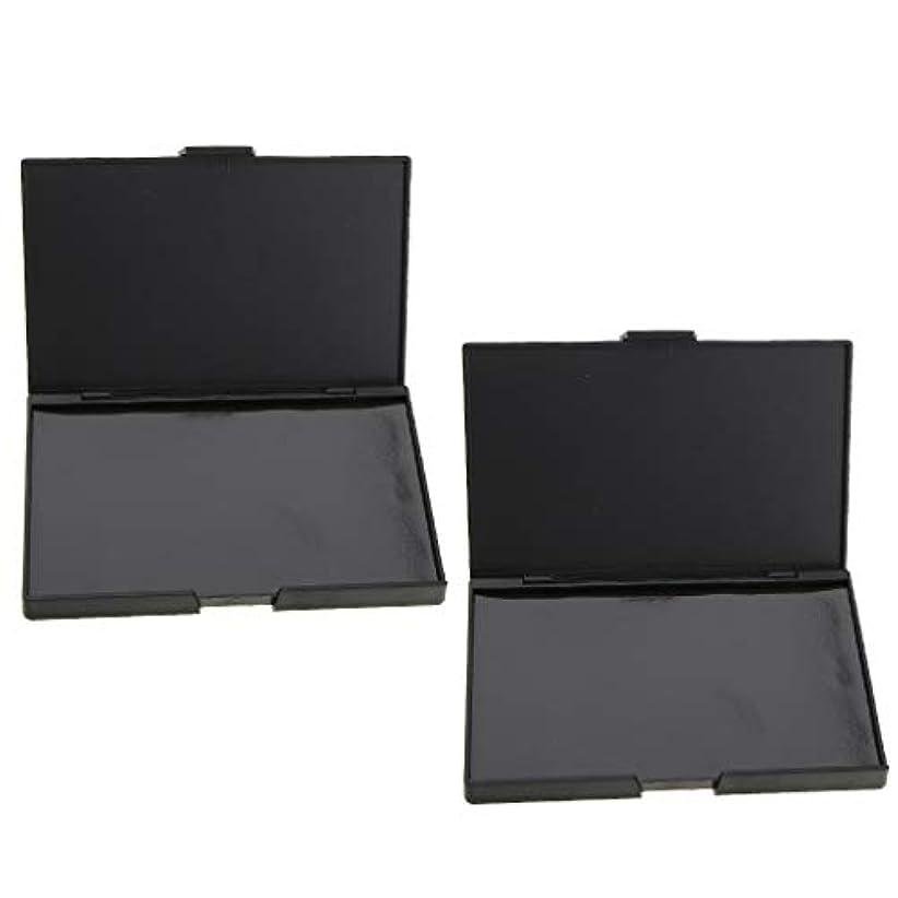 オーバーコート定義する重くする2個 磁気パレット メイクアップケース コスメ 化粧品 DIY 手作り