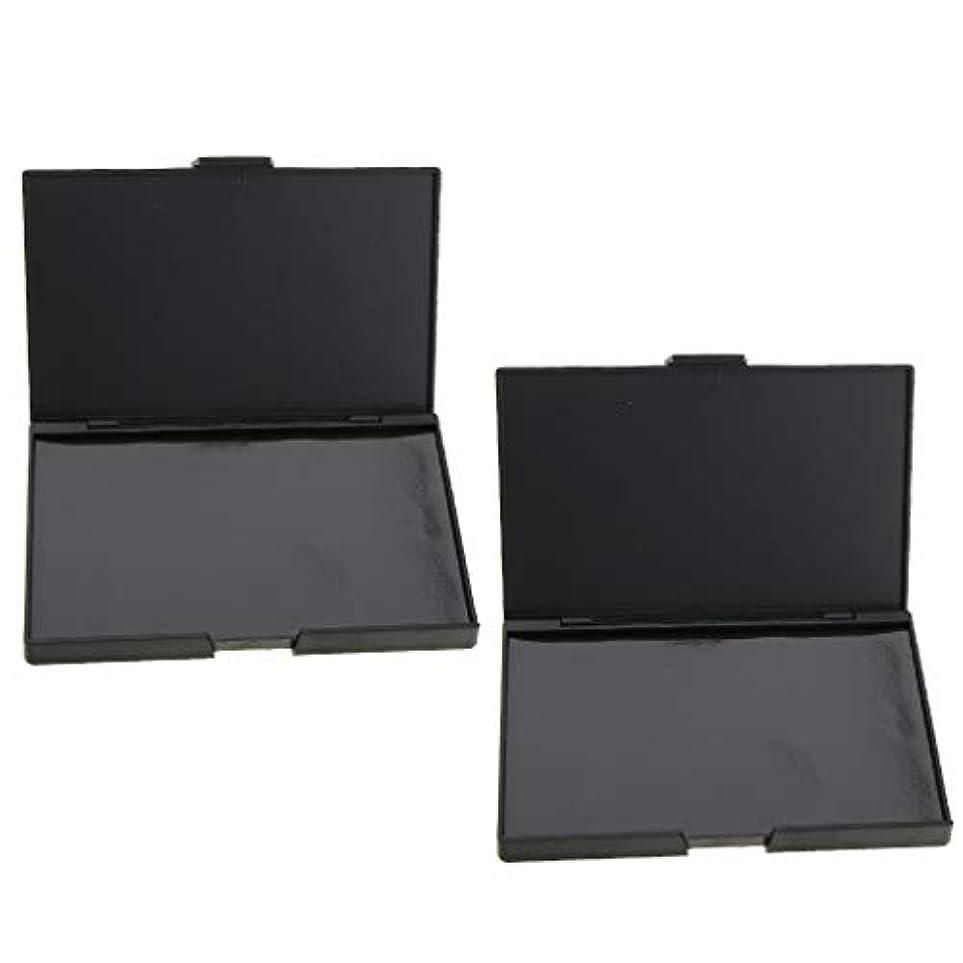 環境に優しい野なペニー2個 磁気パレット メイクアップケース コスメ 化粧品 DIY 手作り