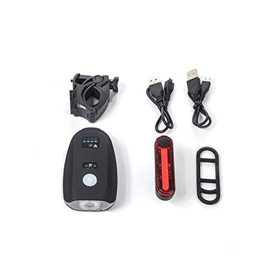 砲兵トラフィック旅行代理店自転車ライトセットUSB充電式、LED自転車ライト4ライトモード簡単にインストール300ルーメン、自転車ヘッドライト
