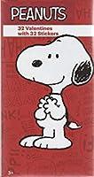 Peanutsスヌーピーバレンタインカードfor Kids with Stickers–Pkgの32( 31822)