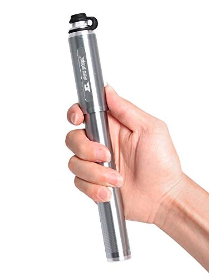笑い創傷抵抗力があるAQI 空気入れ 携帯用ポンプ ミニ 超高圧 160PSI/11BAR アルミ製 軽量 米式/仏式バルブ対応 取付便利 自転車/風船/スイミングリング/ボールなど用