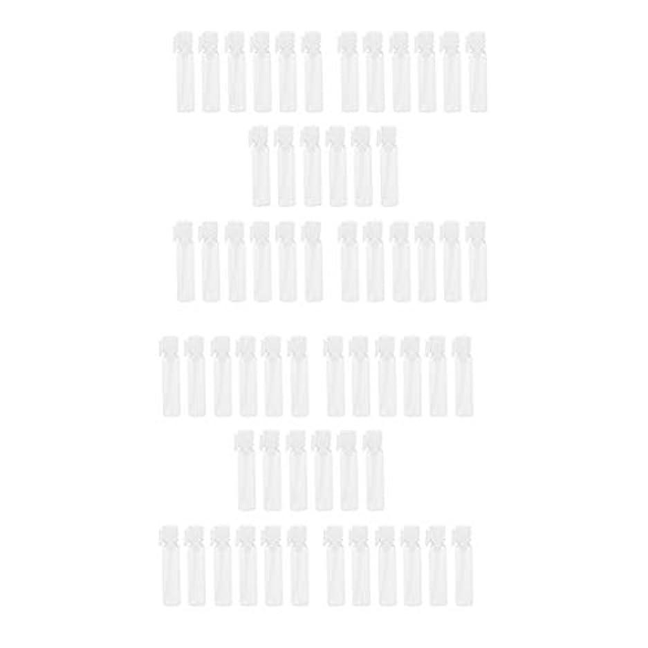 人事サークル協定クリア 香水ボトル 空ボトル 香水瓶 ガラス瓶 詰め替え容器 1ml&2ml 約60個