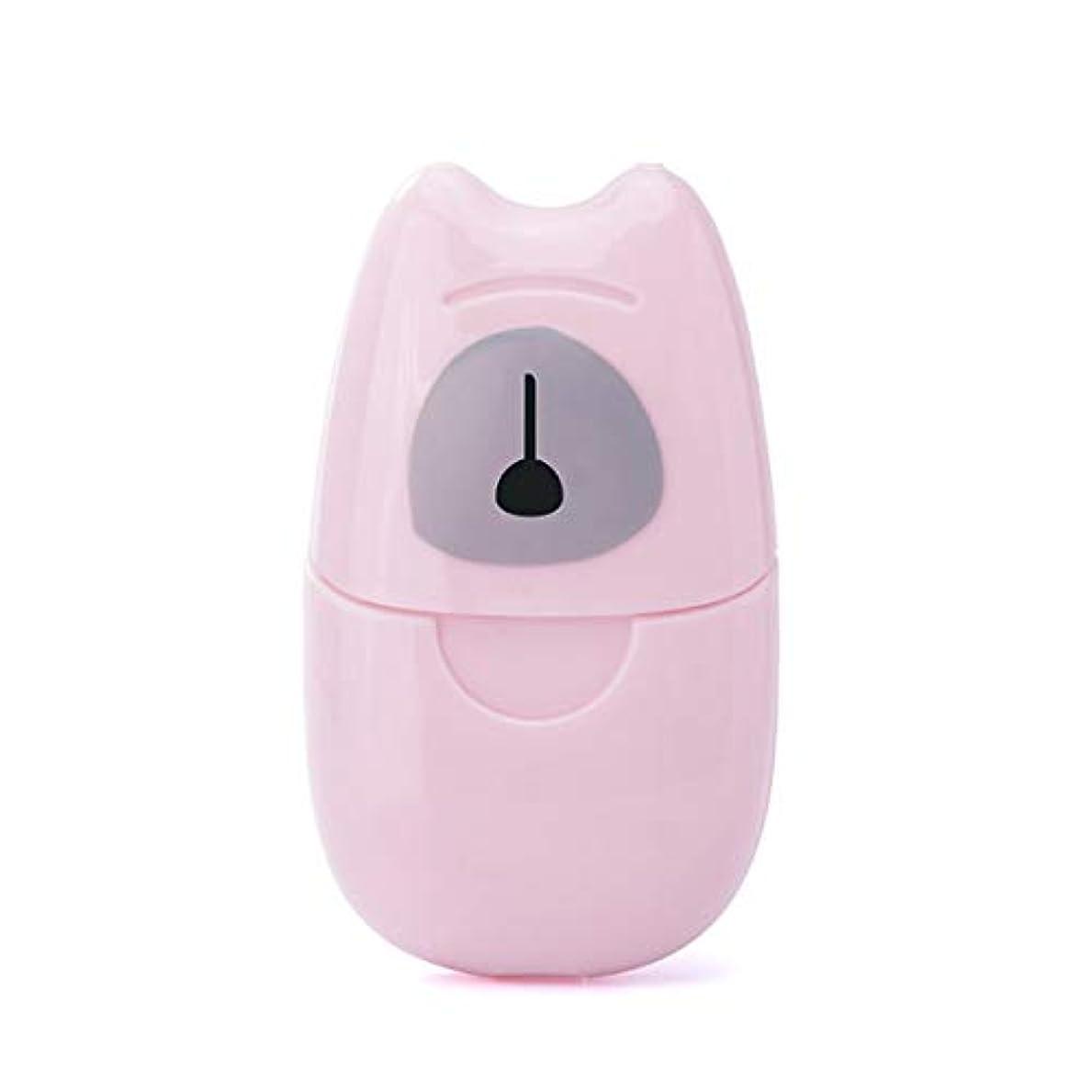 バブルシニスふつうBirdlantern箱入り石鹸紙旅行ポータブル屋外手洗い石鹸香りスライスシート50ピースミニ石鹸紙でプラスチックボックス