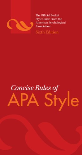 amazon co jp concise rules of apa style sixth edition concise