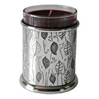 Wentworth Pewter - Leaf Pewter Candle Votive - H:90mm Dia:75mm