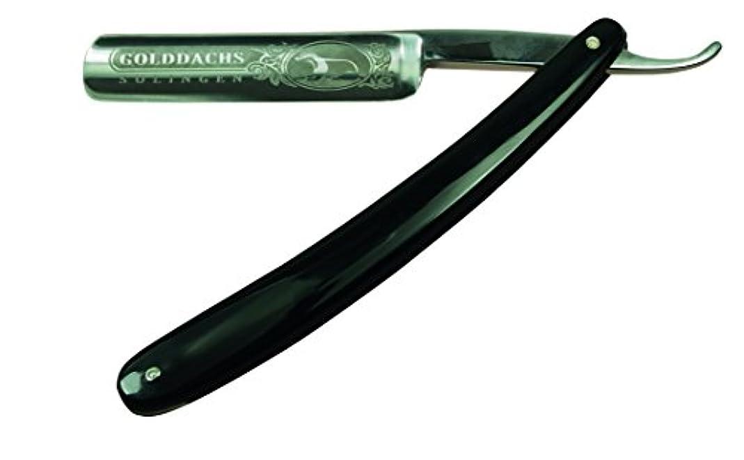 失われたがっかりする上へGOLDDACHS razor, carbon steel, plastic grips, with logo