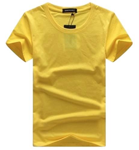 [シービリーヴ] Tシャツ Uネック YE3XL 半袖 無地 インナー カジュアル シャツ シンプル 良質素材 かっこいい 速乾 薄手 部屋着 おしゃれ Tシャツ フィット ワイルド カットソー スウェット 麻 ストリート系 メンズ tシャツ ドライ フィットネス おおきい サイズ リネン 夏 普段着 スキッパー ポロシャツ トップス 黒 春 秋 ゴルフ 綿100% 吸汗 レディース vネック