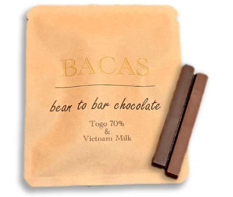 BACAS (バカス) ビーントゥバーチョコレート プチギフト ハイカカオ 内祝い クリスマス バレンタインの贈り物に bean to bar chocolate (1袋)